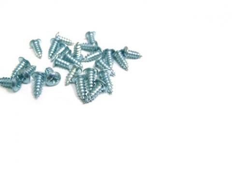 Corvette Windshield or Rear Window Molding Clip Screw Set, Coupe, 1964-1967