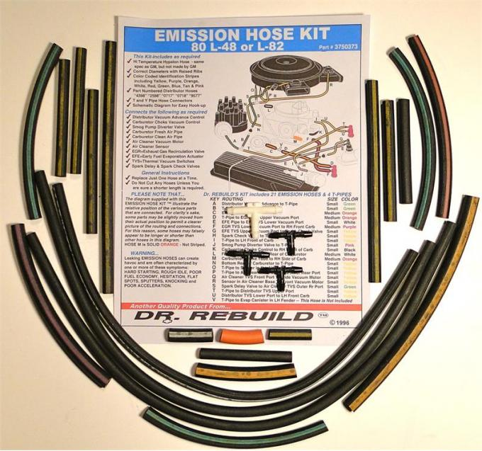Corvette Emission Hose Kit, 1980