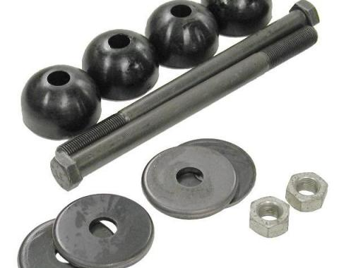 Corvette Rear Leaf Spring Bolt Kit, Long Bolts, With Urethane Cushions, 1963-1982