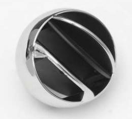Air Vent Ball, Chrome, Dash Side Mount, 1965-1977