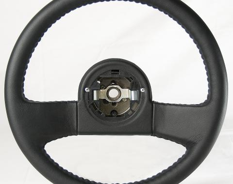 Corvette Volante OE Series Steering Wheel, Black Leather Grip, 1984-1989