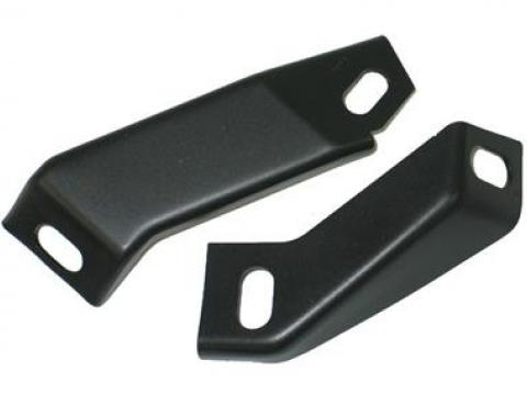 Corvette Fan Shroud Lower To Crossmember Mount Brackets, For Metal Shroud, 1970-1972