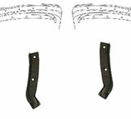 Corvette Weatherstrip, Body Hinge Pillars Coupe, Import, 1963-1967