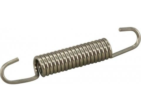 Corvette Park Brake Shoe Spring, Lower, Stainless Steel, 1965-1982
