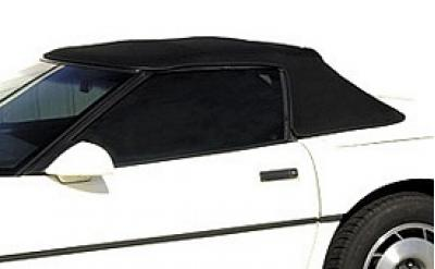Corvette Convertible Cloth Top, With Hard Window & Heat Defroster, Black, 1986-1996