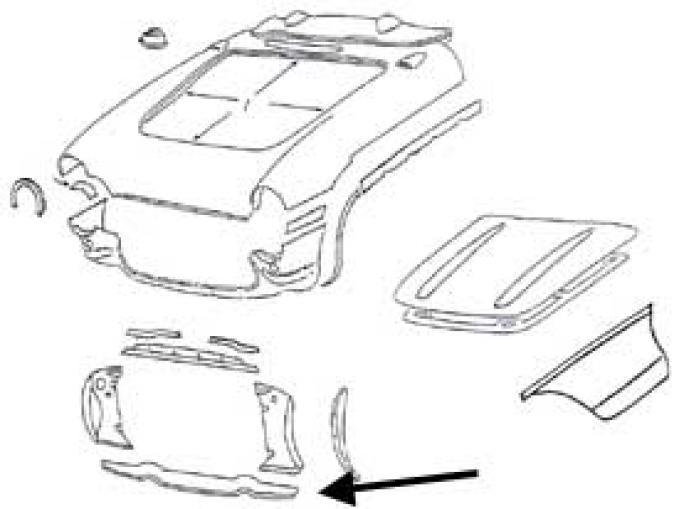 Corvette Radiator Support Panel, Lower, 1956-1957