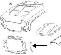 Corvette Radiator Support Bonding Strip, Right Side, 1956-1957