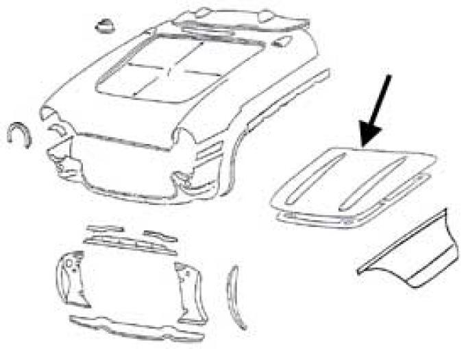 Corvette Hood Outer Skin, 1956-1957