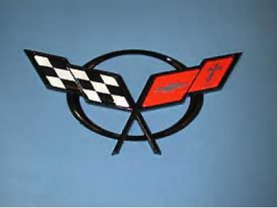 Corvette Rear Emblem, 1997-2002 & 2004