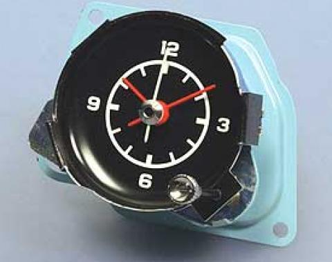 Corvette Clock, Quartz Movement, New Factory Reproduction, 1972-1974
