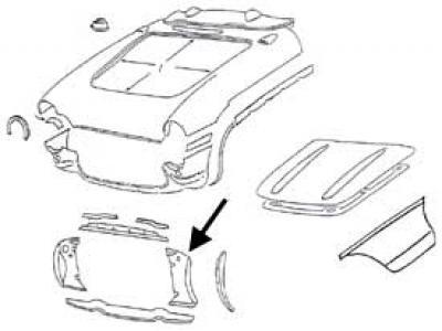 Corvette Radiator Support Panel, Left Side, 1956-1957