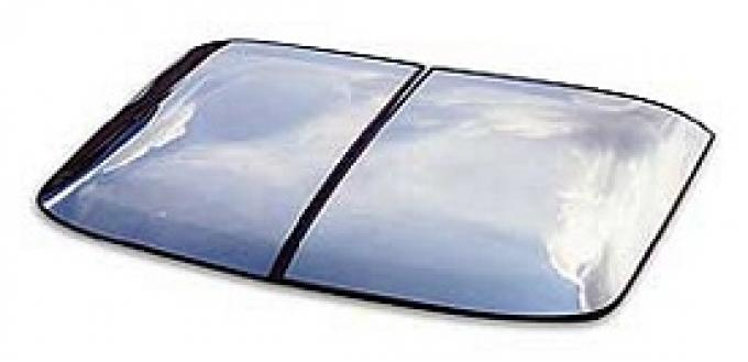 Corvette Roof Panel, T-Top, Mirrored Glass, Silver, Driver Side, 1968-1982