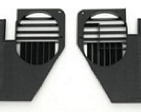 Corvette Kick Panels, Black Paint to Match, 1968-1977