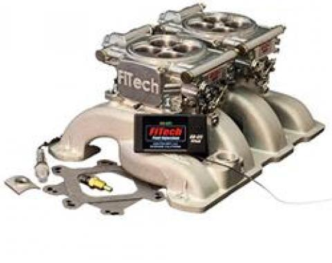 FiTech Fuel Injection 30061 - FiTech Go EFI 2x4 Dual-Quad 625 HP Self-Tuning Fuel Injection Systems