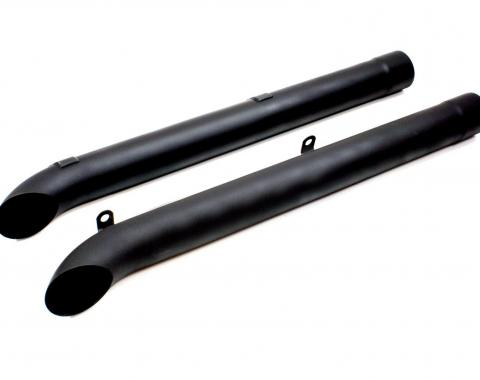 Doug's Headers Corvette Side Tubes, Black, 1963-1982