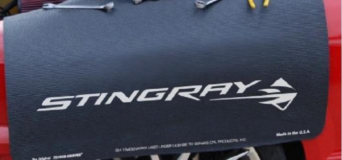 Fender Gripper® Cover, Black with Corvette C7 Stingray Logo