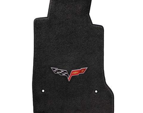Lloyd Mats 2007-2013 Chevrolet Corvette Corvette 2007.5-2013.5 2 Piece Mats Ebony Ultimat C6 Logo 600011