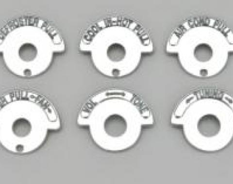 Corvette Dash Knob Indicator Bezels, For Cars With Air Conditioning, 1965-1967