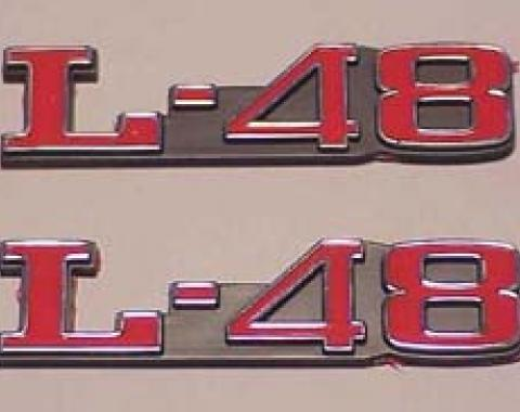 Corvette Hood Emblems, L48, 1973-1982
