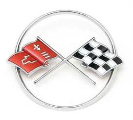 Corvette Crossed-Flags Emblem, Front, 1962