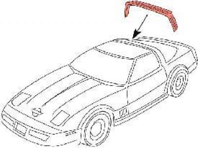 Corvette Rear Roof Panel Weatherstrip, Coupe, USA 1984-1996