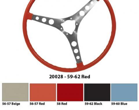 Corvette Steering Wheel, Black (20), 1959-1962
