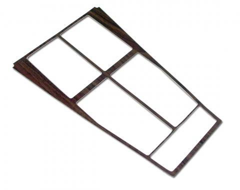 Corvette Console Wood Trim Insert, For Cars With Air Conditioning, 1970-1971