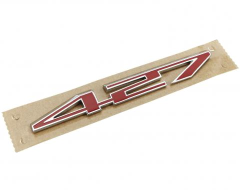 Corvette Hood Emblem, Replacement, 427