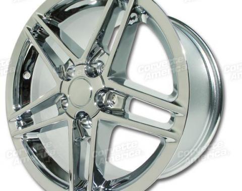 """Corvette Wheel, C6 Z06 Chrome 17"""" x 9.5"""" 54mm Offset, 1988-2004"""