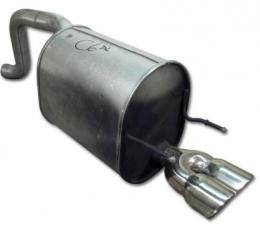 Corvette Muffler, Right with Tips, 2005-2013