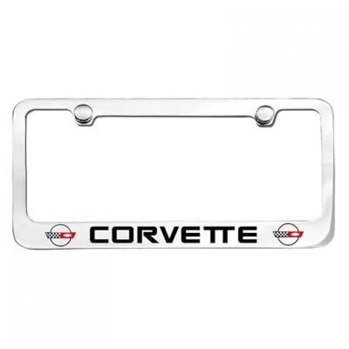 Corvette Elite License Frame, 84-96 Corvette Word with Dual Logo