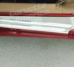 Corvette Sill Covers - Outer - Polished Ss, 1997-2004