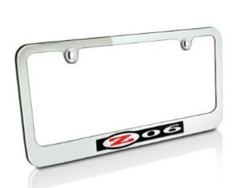 Corvette Elite License Frame, 97-04 Z06 Logo