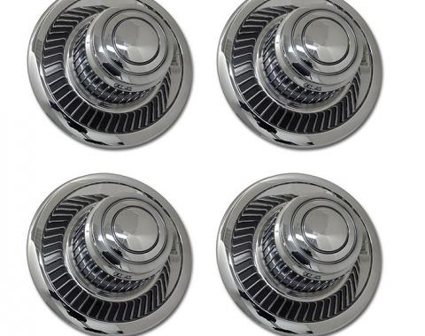 Corvette Rallye Wheel Hubcap Set, Replacement 4 Piece, 1968-1982