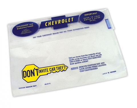 Corvette Owners Manual Bag, 1966-1968