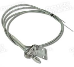Corvette Hood Release Cable Assembly, 1956-1957