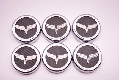 2005-2013 C6 Corvette Executive Series Fluid Cap Cover 6Pc Set, Plum Crazy Purple Solid