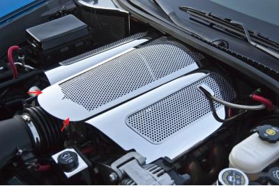 Corvette Plenum Cover Perforated Low Profile Illuminated 2006-2013 Z06 only, Green LED