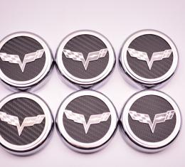 2005-2013 C6 Corvette Executive Series Fluid Cap Cover 6Pc Set, HEMI Orange Solid