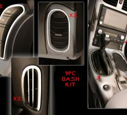 Corvette Dash Kit 9Pc 2005-2013 C6, Brushed