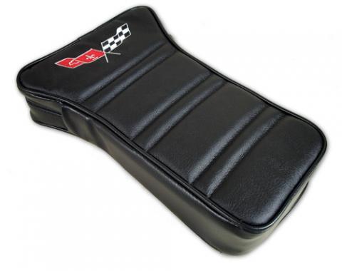 Corvette America 1968-1978 Chevrolet Corvette Center Armrest Embroidered Leather 414920E   59-96 Black