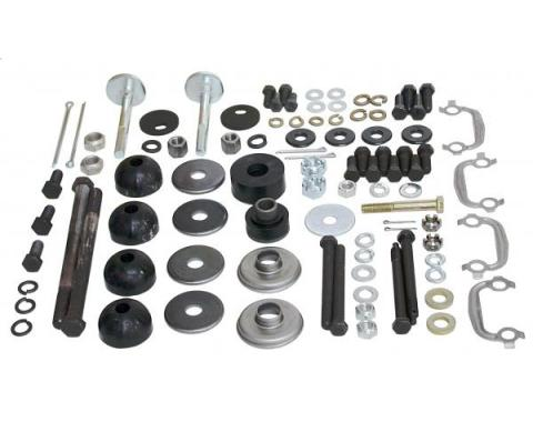 Corvette Rear Suspension Hardware Kit, Polyurethane Bushings, 1980-1982