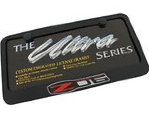 Black Z06 Elite License Plate Frame, Z06 Logo