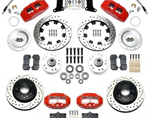 Ridetech Wilwood Complete Dynapro/D8-4 Brake System for 1963-1979 Corvette, with Black Calipers