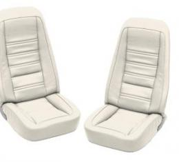 Corvette America 1976-1977 Chevrolet Corvette Embroidered Leather Seat Covers 100% Leather 419876E | 76-77 White