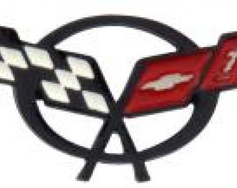 Corvette Lapel Pin, C5 Corvette Crossflags, 1997-2004