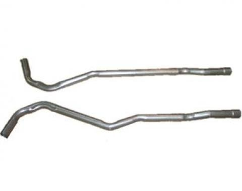 Corvette Secondary Exhaust Pipes, 4 Speed Small Block, 1968-1974
