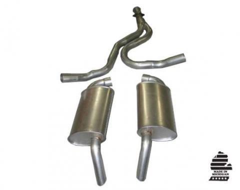 Corvette Exhaust System, Converter Back, 1978-1981