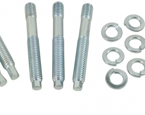 Corvette Exhaust Manifold Studs, with Nuts 12 Piece, 1957-1978