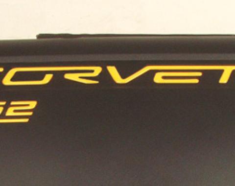 Corvette LS2 Fuel Rail 3D Domed Decals, Chrome, 2005-2007